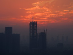 China ever under construction (Germn Vogel) Tags: asia china anhui hefei dawn morning early skyline sky cloud horizon underconstruction building travel tourism crane progress development economy growth city urban urbanlandscape cityscape industrial industriallandscape