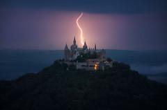 Storm Castle (@hipydeus) Tags: castle burg schloss hohenzollern thunderstorm gewitter blitz lightning germany frankenstein