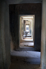 The inside (Isabel-Valero) Tags: travel temple asia cambodia corridor angkor camboya