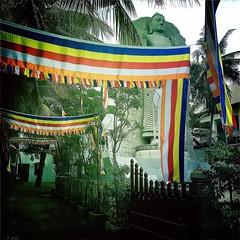 #Hipstamatic #JohnS #W40 #ceylon #colombo #buddhism #buddha #statue #srilanka #asia #alley #vesak (Bruno Abreu) Tags: instagramapp square squareformat iphoneography uploaded:by=instagram