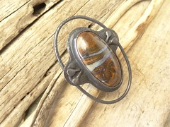 Boulder opal ring (annacmei) Tags: copperjewelry copper ring rustic annamei boulder opal