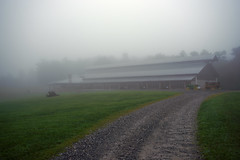 After Hours (oldoinyo) Tags: fog mist nebel landscape northcarolina stable equestrian