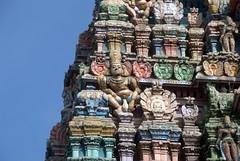 Demon Carving on Temple Gopuram (VinayakH) Tags: halasurusomeshwaratemple bangalore india ulsoor chola vijayanagaraempire kempegowda hindu shiva temple hinduism