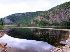 For swimming at Otra. (topzdk) Tags: motorcycle mc norway honda bmw nature solvgardencottages brokke rysstad 2016 summer