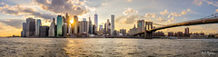 NYC Skyline (pyrospawn) Tags: brooklynbridgepark summer sony1635mmvariotessartfef4zaoss panorama nyc newyorkcity sonya7ii newyork sunset 2016 hot humid brooklynbridge