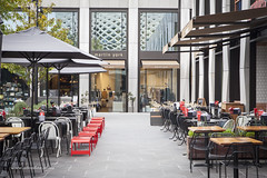 Eastland Dining (Adam Dimech) Tags: eastlandshoppingcentre eastland shoppingcentre shoppingcenter shoppingmall tables chairs dining outdoor ringwood melbourne victoria australia