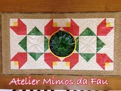 Trilho de Mesa Tulipa (Atelier Mimos da Fau) Tags: caminhodemesa trilhodemesa tulipa tulip patchwork quilt