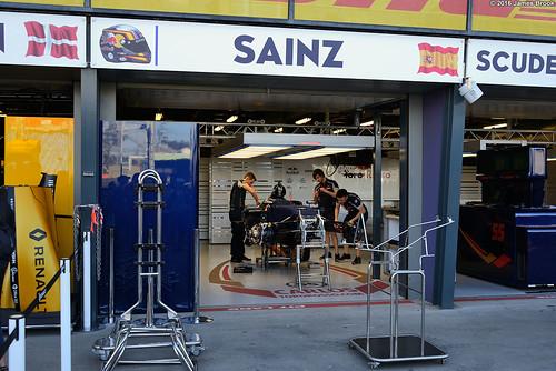 Scuderia Torro Rosso garage and pits