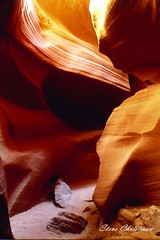 Sculpture of time (Steve Christman) Tags: antelopecanyon page arizona desert southwest sculptured canyon sandstone light 35mmfilm
