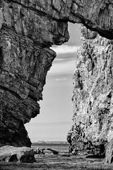 _D816693 : Dans la gueule du lion (Brestitude) Tags: rocks lion rocher nb bw noiretblanc finistère bretagne brittany france brestitude ©laurentnevo mer iroise sea