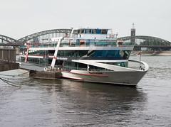 Rhine river in Cologne (Vladislav Ihl) Tags: boot boote deutschland europa fluss kln landschaften nordrheinwestfalen orte schiff schiffe technik wasser