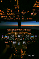 Sunset from the cockpit (gc232) Tags: samyang 14mm f28 canon 6 6d live from flight deck golfcharlie232 sunset sunrise sun light cockpit wide angle jumpseat airline pilots flightdeck aerial fly flying avgeek aviation jet airplane plane aircraft airliner airlinersnet boeing b737 b737ng b737700 b737800 b737900 737 737ng 737800 737700 737900 instruments low overhead panel