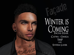 .Faade. :: Winter Is Coming (Jules Solano - Owner of .Faade.) Tags: facade faade second life winter is coming hunt moh8 moh men only facial hair beard catwa jules solano