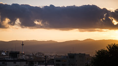 The Last Sunshine @ Kyoto, Japan (tapanuth) Tags: kyoto japan tower sunset sky cloud ray light dusk evening kiyomizudera asia travel scene view city cityscape colorful beautiful atmosphere goldenhour building architecture twilight nikon d610 85mm television aerial mountain hill