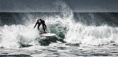 Crouching Surfer Hidden Dragon (Nigel Jones LRPS) Tags: surf guinness waves breakers cornwall female surfer godrevybay