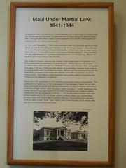 Maui Under Martial Law during WWII (jimmywayne) Tags: wailuku maui mauicounty hawaii courthouse countycourthouse martiallaw historic musuem museum wwii