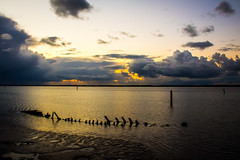 Day 284, 2016, a photo a day. (lizzieisdizzy) Tags: howiemarsh outside outdoors norfolk sunset sundown cloud clouds colourful moody serene reflections refective still panorama panoramic beautiful bigsky west westward intense calm calming