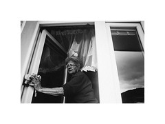 cleaning II. (Marek Pupk) Tags: central europe slovakia old woman documentary blackandwhite bw monochrome analog film canon eos a2 ilford xp2 life
