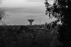 water tower (novusgraph) Tags: city urban blackandwhite tower nature water landscape blackwhite spring cityscape sweden watertower malm vr