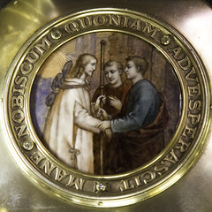 Stay with us Lord (Lawrence OP) Tags: paris cathedral treasury lord notredame supper risen jesuschrist emmaus enamel paten eucharist disciples euc breakingofbread