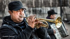 The Trumpeter (Christian Beasley) Tags: music london trumpet southbank trumpeter