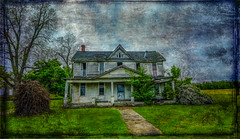 Backusburg House_Textured (Bob G. Bell) Tags: house texture dark kentucky ky oldhouse fujifilm hauntedhouse bobbell callowaycounty xpro1 backusburg oncewashome