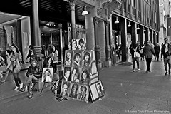 Milan City Life (giannipaoloziliani) Tags: pictures life street city morning portrait people blackandwhite italy milan digital walking graphics italia day oldstyle shadows view walk milano centre details centro citylife ombre persone urbano editing biancoenero citt urbanlife corsovittorioemanuele citystyle urbancity graphicsmanipulation vittorioemanuelestreet