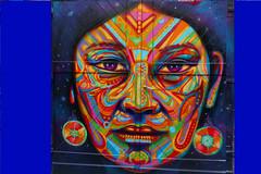 Berlin city grafitti (Marco Braun) Tags: street city streetart color berlin art face germany gesicht grafitti colores colourful farbig bunt mucho 2015 multichrome couleures deurschland allrmagne