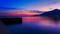 Magic moments in Budva (jovanmilic40) Tags: blue sunset sea beautiful clouds landscape spring nice dock niceshot colours purple fine niceday