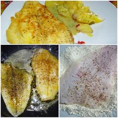 Es gab leckeren Fisch (anitasandorn) Tags: fish collage essen fisch eat kochen frisch braten nahrung