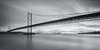 Black and White Bridges (Damon Finlay) Tags: road longexposure bridge 2 blackandwhite bw white black monochrome canon silver scotland long exposure crossing 10 south rail forth stop filter pro efs 1022mm firth firthofforth queensferry southqueensferry forthroadbridge forthrailbridge efs1022mm efex 60d nd110 canon60d forthcrossing bwnd11010stopfilter silverefexpro2