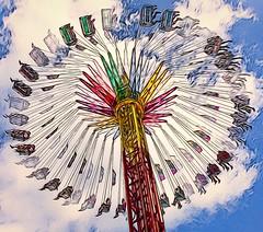 Carnival Ride (Wes Iversen) Tags: carnival photomanipulation michigan composites odc carnivalrides hss davisburg oaklandcountyfair ourdailychallenge sliderssunday