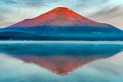 2016 Red Fuji (shinichiro*) Tags:    jp 20160627ds37577 2016 crazyshin nikond4s afsnikkor2470mmf28ged fuji lakeyamanaka yamanashi japan june summerr frost upsidedown    redfuji   steamfog candidate