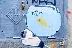 Roma. Trastevere. Street art by K2m, Missroka (R come Rit@) Tags: italia italy roma rome ritarestifo photography streetphotography streetart arte art arteurbana streetartphotography urbanart urban wall walls wallart graffiti graff graffitiart muro muri streetartroma streetartrome romestreetart romastreetart graffitiroma graffitirome romegraffiti romeurbanart urbanartroma streetartitaly italystreetart contemporaryart artecontemporanea missroka ippocampo hippocampus seahorse poster posterart colla glue paste pasteup 3d scultura sculpture k2m kappa2emme trastevere