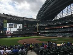 Miller Stadium, Milwaukee, Wisconsin (corsi photo) Tags: milwaukeewisconsin millerstadium baseball sports crowd athletes