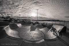 193/366. Black & White July. (Paul Amestoy) Tags: blackandwhite white black bondi sunrise blackwhite sydney australia skate skateboard blackwhitephotos