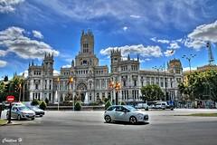 Cibeles (Madrid) (CristinaH-Fotografia) Tags: plaza cibeles madrid spain espaa fuente arquitectura ayuntamiento turismo ciudad color colores colors hdr