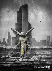 The Second Angel I (Ghost Of Nations Photography And Digital Art) Tags: ghostofnationsphotography ghostofnations liminal gothic newgothic neogothic square decay decaying dark sculpture statue scary spooky angel artistic artwork disquiet death disturbing buildings water ocean lake squareformat eerie