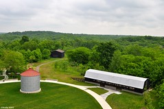 Farm turned park (Studio 9265) Tags: park trees sky building green nature barn turkey walking nikon outdoor kentucky ky fork run structure silo trail louisville pathway floyds parklands 2016 d5000