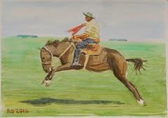 DSC01913_low (RafaelSan) Tags: doma caballo criollo gaucho uruguay acuarela watercolor horse rodeo