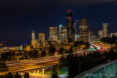 Seattle Lite-Brite (Pismopup Photography) Tags: seattle light trails seattleskylinenight skyline longexposure
