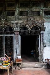 Cave entrance with Loa girl (rflexit) Tags: asia laos pak ou caves travel mekong buddha
