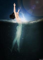 Underwater (Eurdice Qork) Tags: model sexy water underwater flare nude bath siren mermaid