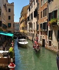 DSC_0082 (bikerchisp) Tags: venice italy ital italia venise canals lagoon bridges gondola holiday vacation europe adriatic sea water waterways streets blue sky bluesky sunshine bikerchisp