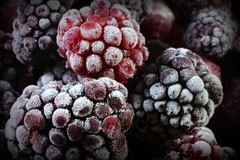 Fill the Frame with Food - Macro Mondays (Explored) (Crisp-13) Tags: fill frame with food macro mondays frozen ice raspberry blackberry