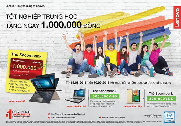 Tặng tiền lên đến 1 triệu đồng khi mua Laptop Lenovo tại Trần Anh Hà Đông