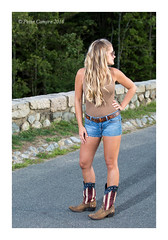 Melissa - Boots (Peter Camyre) Tags: august 7 2016 melissa grace peter camyre sunset quabbin reservoir shoot boots jean shorts tank country girl look blonde female model pose posing beautiful pretty canon image portrait pictures windsor dam away legs girls ef70200mmf28lisiiusm canoneos5dmarkiii top tanktop jeanshorts