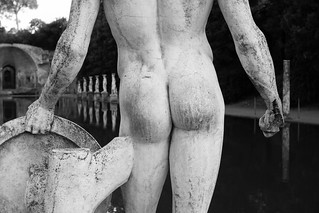 Roman Statue Detail Villa Adriana Italy