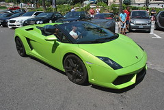 Lamborghini Gallardo LP560-4 Spyder (D's Carspotting) Tags: lamborghini gallardo lp5604 spyder monaco green 20130723 cot700