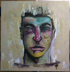 The Solace of Anger (id-iom) Tags: idiom man face head eyes canvas art street urban graffiti